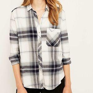 BDG | White & Grey Flannel Shirt
